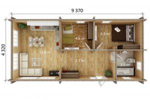 Residential cabin / Granny Flat ALBRIGSTEN