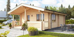 Timber Log Cabin, Granny Flat, CUMBRIA – 46 SQM