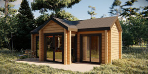 Timber Log Cabin, Granny Flat, Eva
