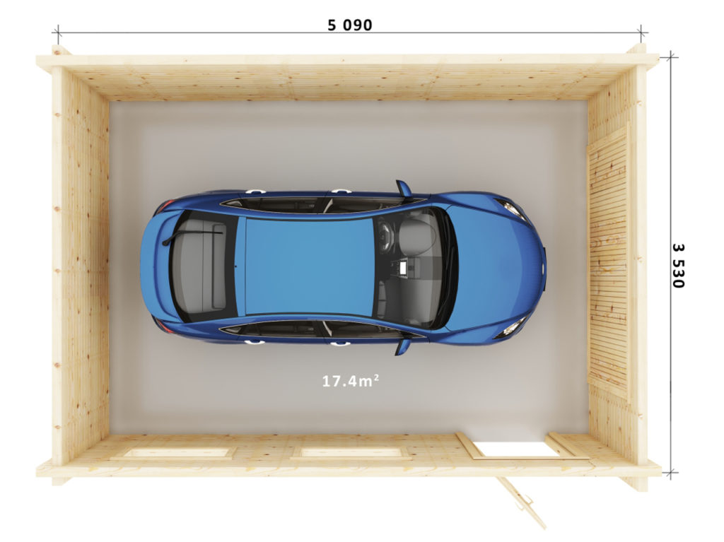 Garage Single Floor Plan