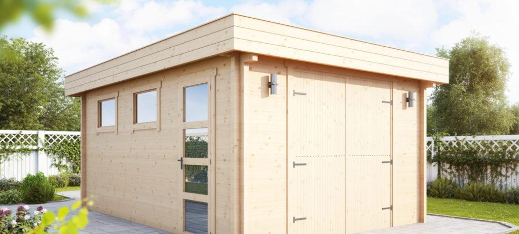 Timber Log Garage