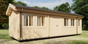 Timber Log Cabin, Granny Flat, THE SKID CABIN