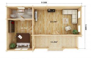 Timber Log Cabin York, Granny Flat, under 60sqm